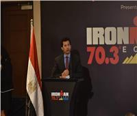 وزير الرياضة يشهد إعلان استضافة مصر بطولة iron man