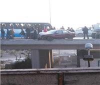 سقوط سيارة من أعلى كوبري عرابي وإصابة شخصين
