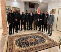 السفير المصري بتونس يقيم مأدبة عشاء على شرف بعثة منتخب مصر للشباب