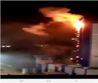 حريق محدود بقسم الحوامدية بسبب لافتة