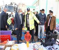 رئيس القابضة للمياه يتفقد معدات وسيارات التعامل مع الأمطار بالجيزة