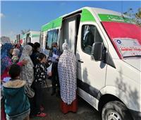 توقيع الكشف الطبي بالمجان على 1600 مواطن خلال القافلة الطبية بدمياط