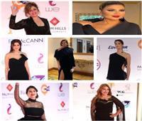 صور: الفساتين السوداء «يونيفورم» الفنانات بمهرجان القاهرة السينمائي