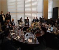 وزيرة التعاون الدولي ووفد عراقي يتفقدون العاصمة الإدارية الجديدة   صور