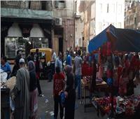 إشغالات طريق في حي وسط الإسكندرية | صور