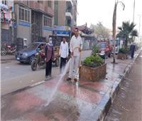 استمرار أعمال النظافة وتسوية الشوارع وإزالة التعديات بأشمون