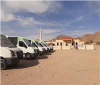 قوافل طبية مجانية إلي أودية أبورديسبجنوب سيناء