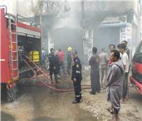 السيطرة على حريق محل قطع غيار سيارات بالعمرانية في الجيزة| صور