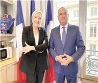 زعيمة اليمين الفرنسى: مصر نموذج فى عدم الخلط بين الدين والتطرف