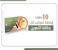 إنفوجراف   10 خطوات لإضافة المواليد إلى بطاقة التموين .. تعرف عليها