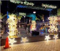 طنطا تتزين لاستقبال «الكريسماس» رغم كورونا وتقلبات الطقس | صور