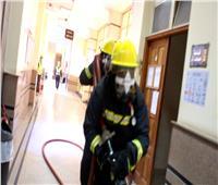 «هندسة المنصورة» تجري محاكاة لعملية مكافحة حريق وإخلاء آمن
