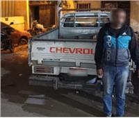 ضبط مسجل خطر لسرقته سيارة نقل بعابدين