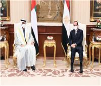 حساب سفارة الإمارات على «تويتر» يبرز لقاء السيسي و«بن زايد»