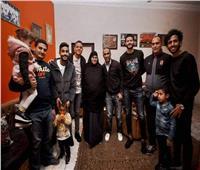 عبد الحفيظ ونجوم الأهلي يطمئنون على أسرة محمد عبد الوهاب