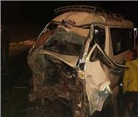 بالأسماء.. إصابة 10 أشخاص في حادث انقلاب ميكروباص بالبحيرة