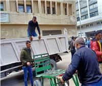 حملات مكبرة لإزالة الإشغالات بأحياء الإسكندرية من العجمي حتى أبي قير