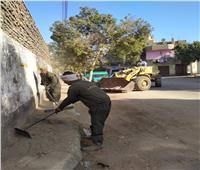 حملة نظافة مكبرة بشوارع البياضية في الأقصر