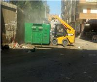 حملات مكثفة لرفع «تلال القمامة» بأسيوط