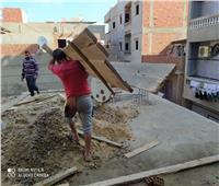 إزالة تعديات بناء مخالف في المهد علي 799 متر بالدقهلية