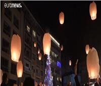 إضاءة الفوانيس في لبنان تكريمًا لضحايا انفجار مرفأ بيروت| فيديو