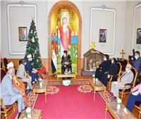 وزير الأوقاف ونظيره السوداني يهنئان «البابا تواضروس» بأعياد الميلاد