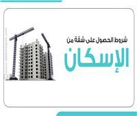 إنفوجراف  شروط الحصول على شقة من «الإسكان»