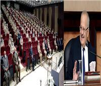 رئيس جامعة القاهرة يلقي محاضرة بكلية القادة والأركان