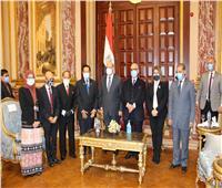 رئيس مجلس الشيوخ يتسقبل وفد برلماني اندونيسي 