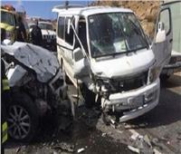 مصرع شخصين وإصابة 6 آخرين في حادث تصادم بالشروق