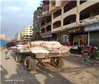 مصادرة «عربة كارو» تلقي المخلفات بشوارع الخصوص في القليوبية