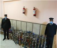 ضبط 37 شيشة وتحرير 161 محضرا في حملة مكبرة لشرطة المرافق بالأقصر