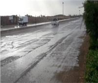 بسبب السيول.. إغلاق طريق «سفاجا- القصير» بالكيلو 45