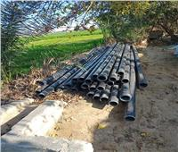 توصيل مياه الشرب لبعض المناطق المحرومه بالقنطرة غرب
