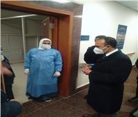 نائب محافظ المنيا يتابع الخدمة الطبية بمستشفيات الحميات والصدر | صور