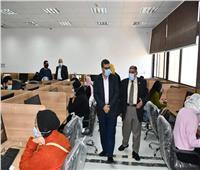 عقد الاختبارات الإلكترونية لكلية التربية بجامعة القناة