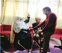 شيخة مجاهدات سيناء تستضيف طلاب كلية التربية بالعريش بمنزلها