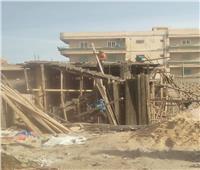 وقف أعمال البناء في العريش لعدم استخراج موافقة