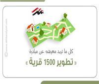 إنفوجراف  كل ما تريد معرفته عن مبادرة تطوير 1500 قرية