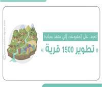 إنفوجراف  مشروعات مبادرة تطوير 1500 قرية