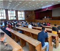 «حقوق المنصورة» تطبق الإجراءات الاحترازية في المحاضرات العلمية