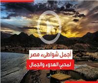 فيديوجراف | أجمل شواطىء مصر لمحبي الهدوء والجمال