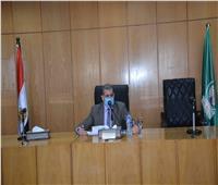 سكرتير عام محافظة المنيا يتابع الموقف التنفيذي لميكنة أعمال حصر أملاك الدولة