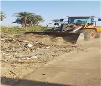 حملة نظافة بقرى البر الغربي في الأقصر