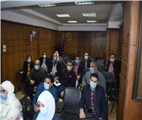 نائب محافظ المنيايشهد تدريب أطباء الصدر والحميات على أجهزة التنفس
