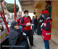 الهلال الأحمر ينظم حملات للتوعية ضدفيرس كورونا بالمنوفية