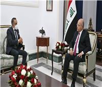 الرئيس العراقي: حريصون على دعم التعاون مع مصر وتعزيز عمل اللجنة المشتركة