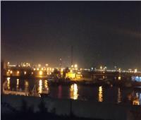 السفن تطلق صافراتها بميناء بورتوفيق احتفالا بالعام الجديد