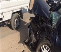 إصابة 5 أشخاص بينهم طفلين في حادث تصادم ببني سويف