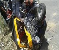 إصابة 5 أشخاص في حادث انقلاب «توك توك» في بني سويف
